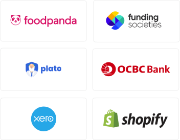 foodpanda, funding societies, plato, OCBC bank, xero, shopify