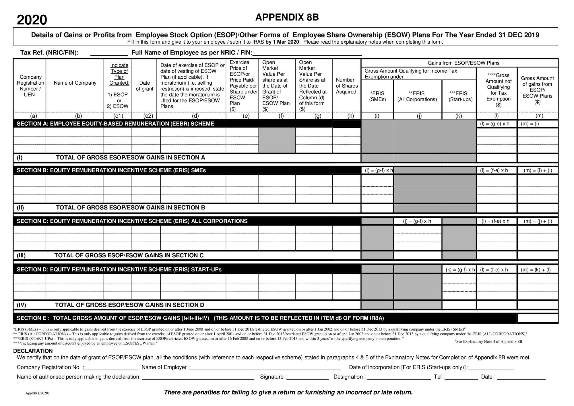 Appendix 8B example