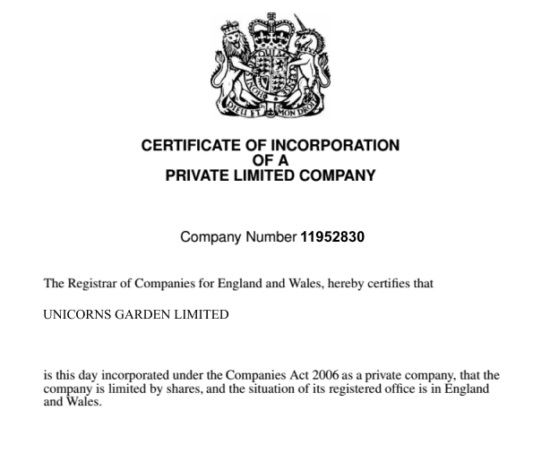 crn on your incorporation certificate