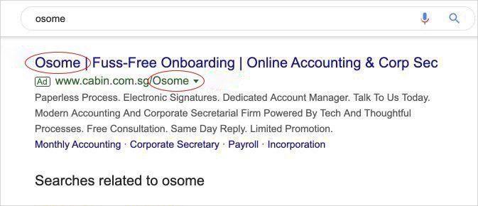 osome ad trade mark case