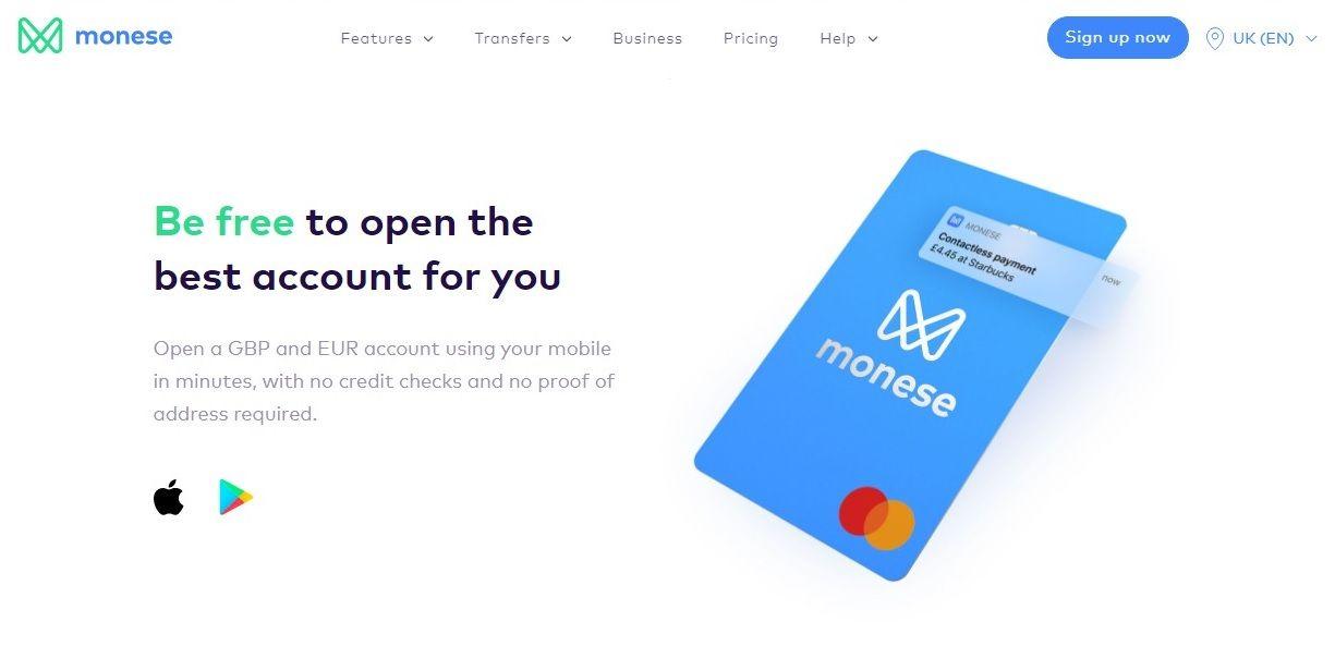 monese interface