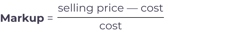 markup formula