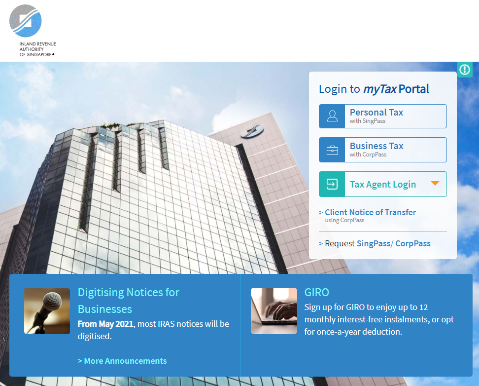 IRAS Tax Portal