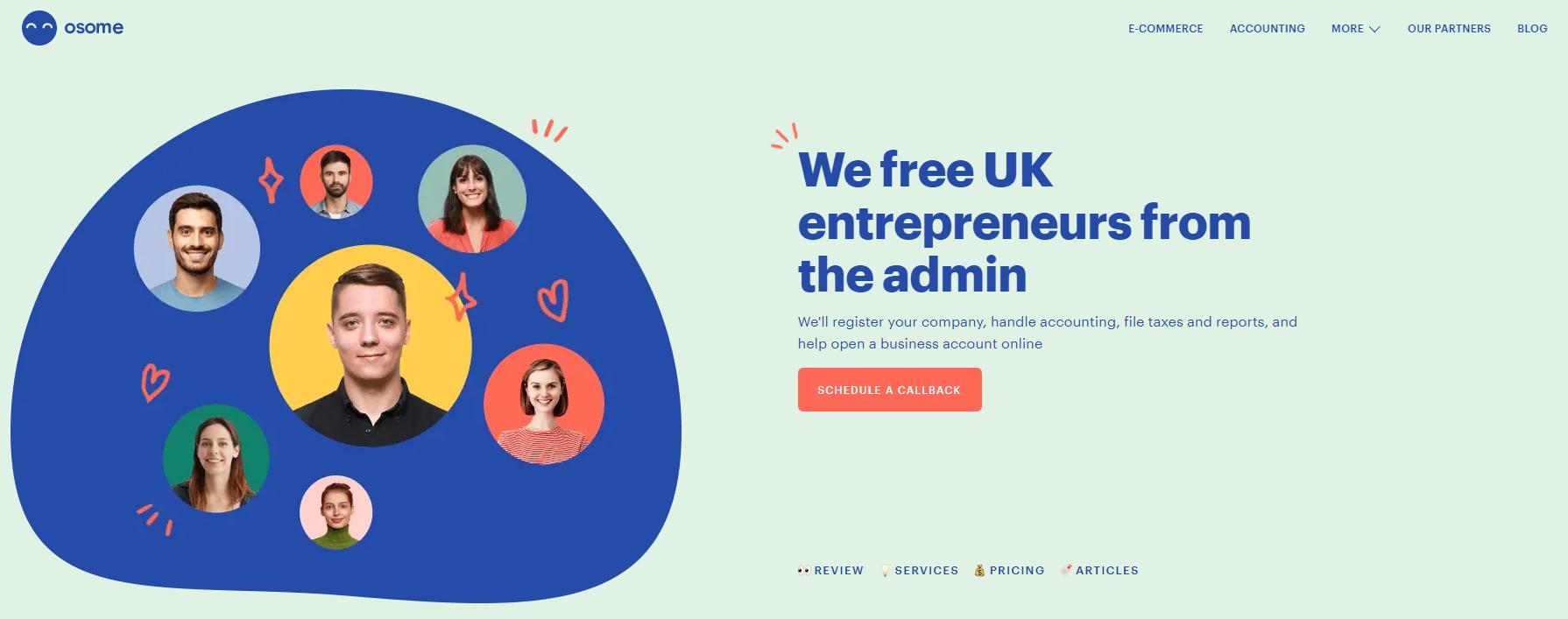 Osome Webpage in UK