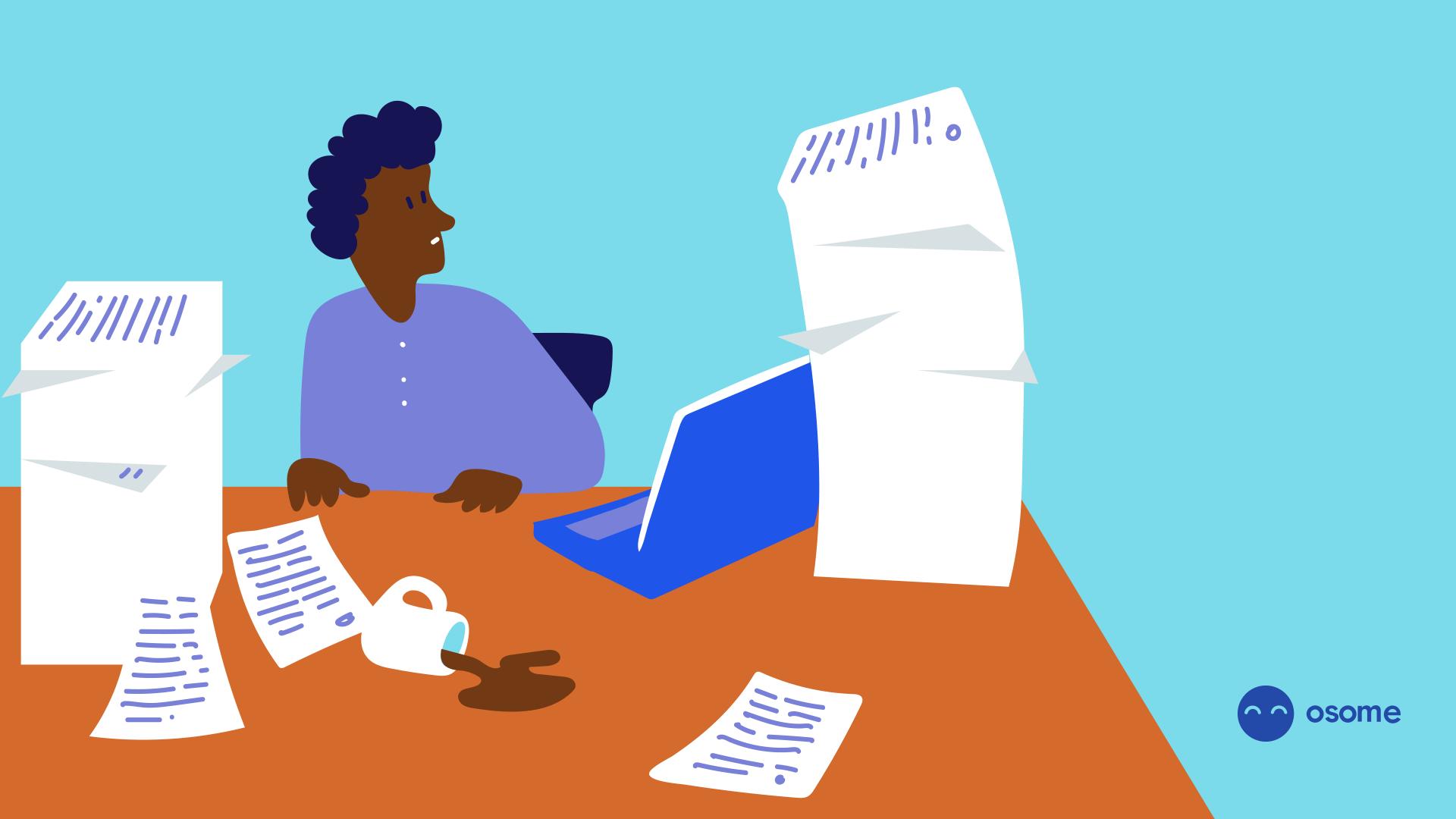 entrepreneur doing paperwork