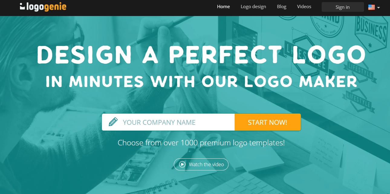Logogenie-home-page