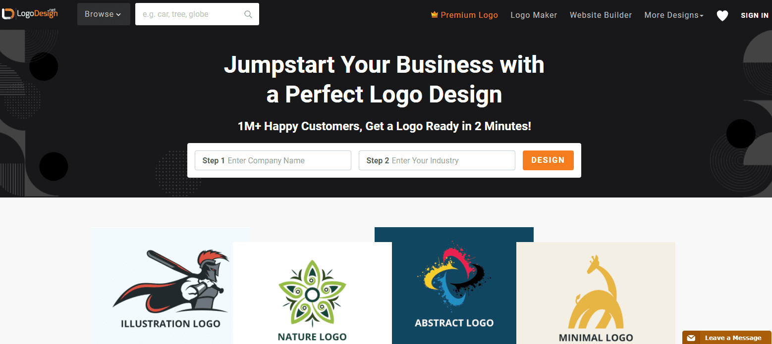 LogoDesign.Net-home-page