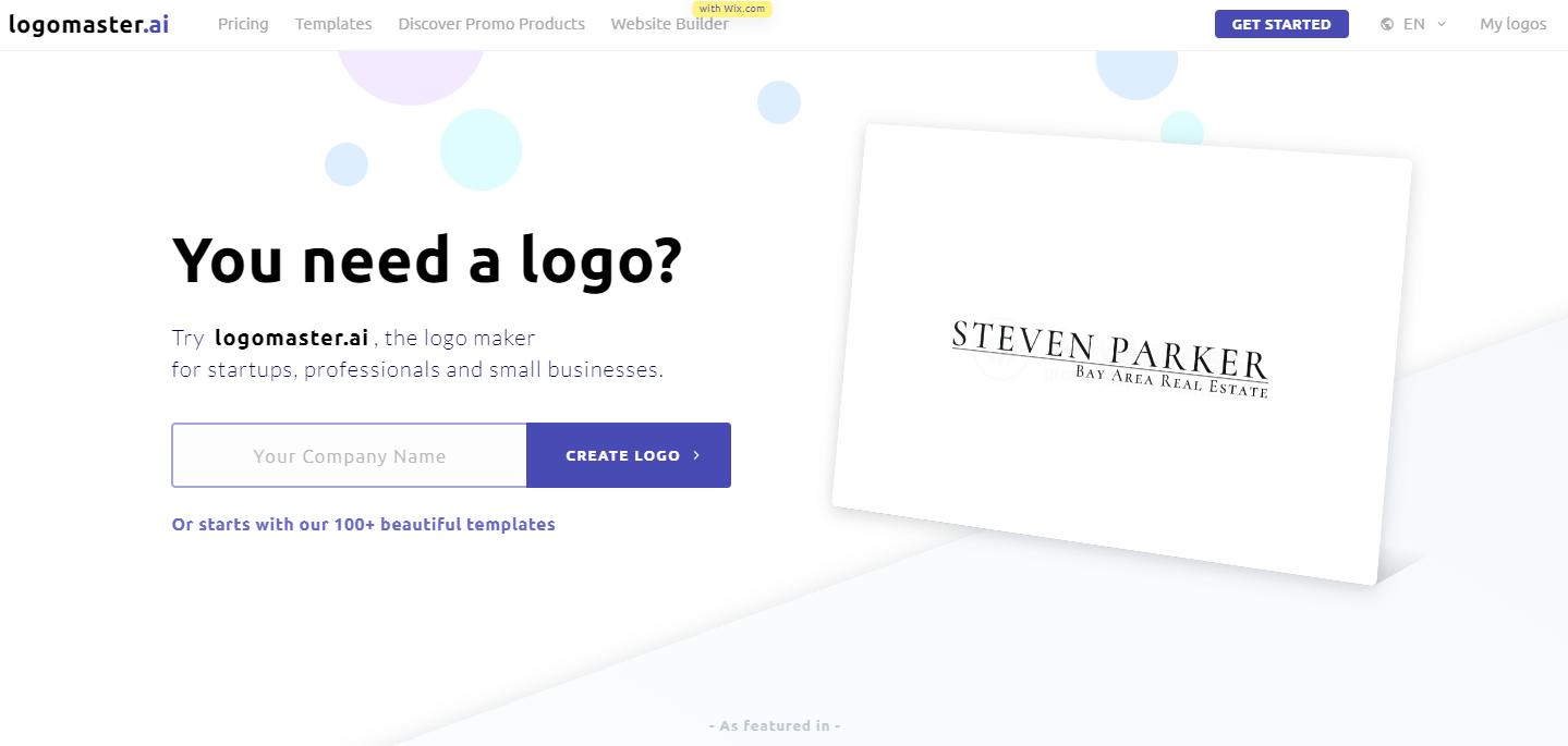 Logomaster.ai-home-page