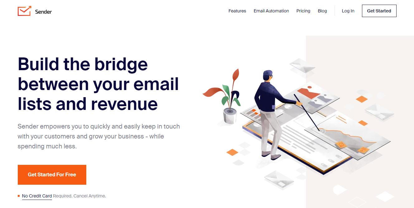 Sender-home-page