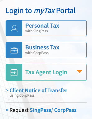 IRAS offers you a personal account known as myTaxPortal