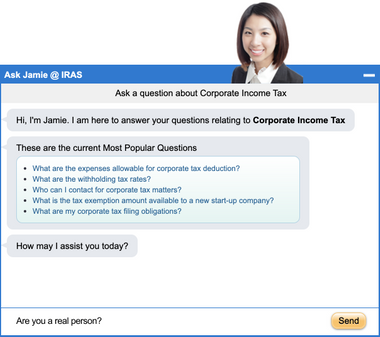 You can ask IRAS your questions