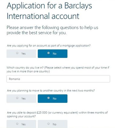 barclays application form