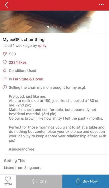 Carousell EXGF Chair 2