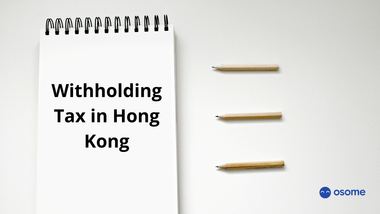 Withholding tax in Hong Kong