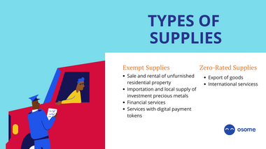 Exempt and zero rated supplies GST