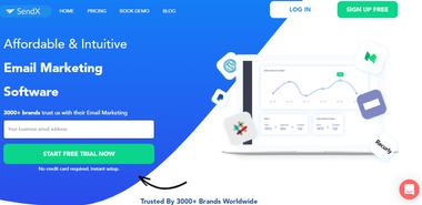 SendX-home-page